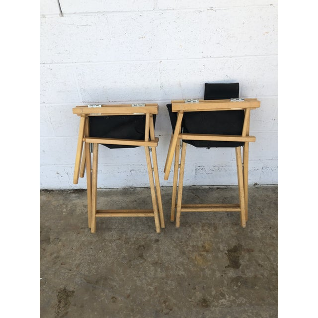 Vintage Wood Folding Director Chairs With Mercury Outboard Advertising - a Pair For Sale - Image 12 of 13