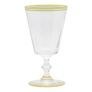 Moda Domus x Chairish Exclusive Colorblock Painted Rim Water Glass For Sale