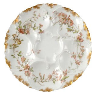 19th Century 1892 Antique Limoges Porcelain Oyster Plate For Sale