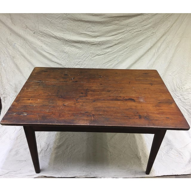 Industrial Vintage Rustic Hand Made Farm Table For Sale - Image 3 of 11