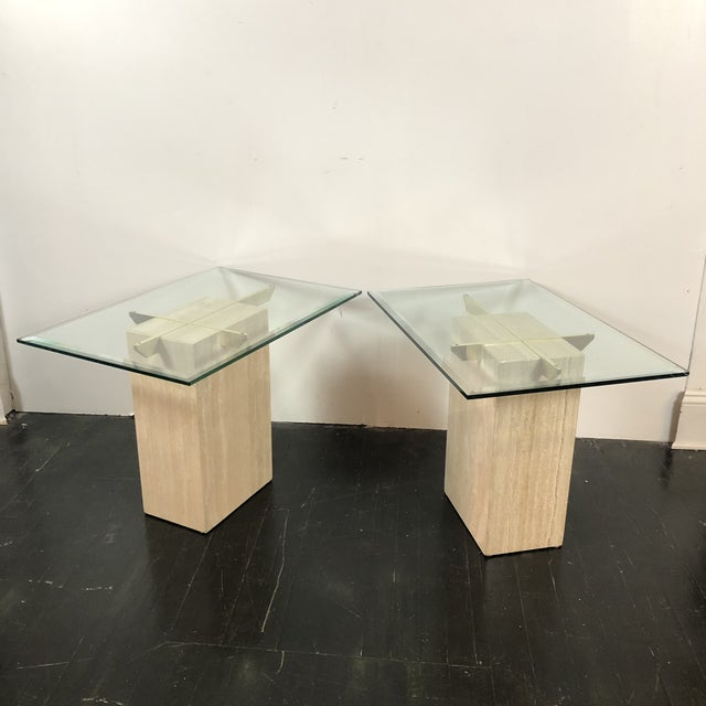 1970s Artedi Italian Marble Side Tables - a Pair For Sale In San Antonio - Image 6 of 13