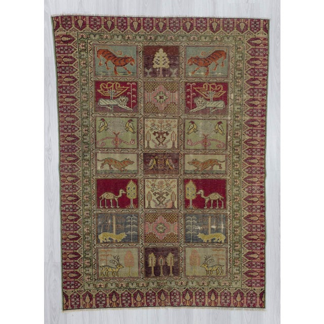 Vintage Decorative Turkish Rug - 4′ × 5′8″ - Image 2 of 6
