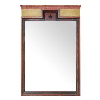 Painted Architectural Mirror For Sale
