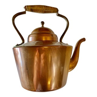 Vintage 1960s Copper Tea Pot For Sale