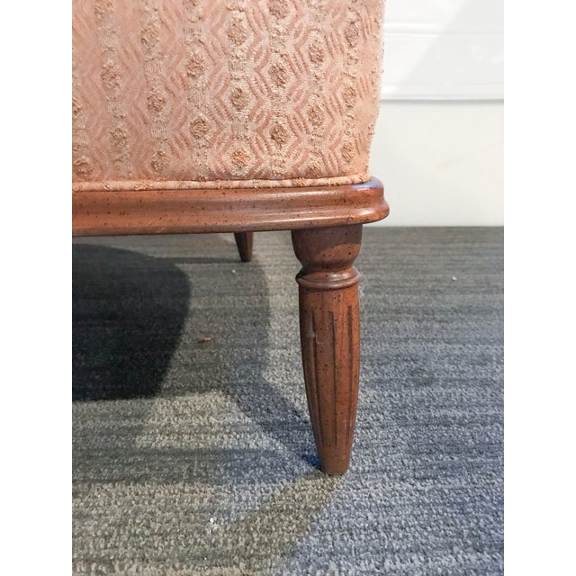 Mid-Century Modern Pale Pink Accent Chair - Image 5 of 11