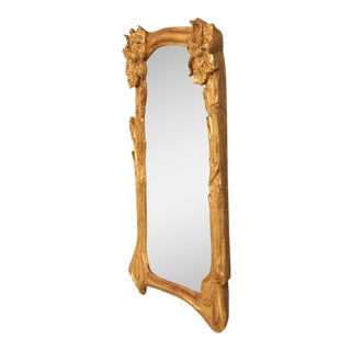 Art Nouveau Gilt Mirror For Sale