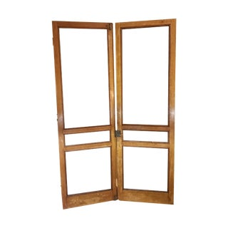 Tiger Oak Plantation Style Screen Doors - A Pair
