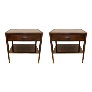 Baker Furniture Bill Sofield Nightstands or Side Tables - a Pair For Sale