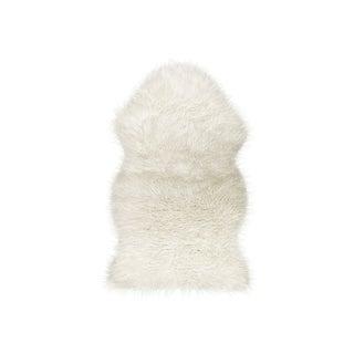 Off White Gordon Faux Sheepskin Throw - 2' X 3'