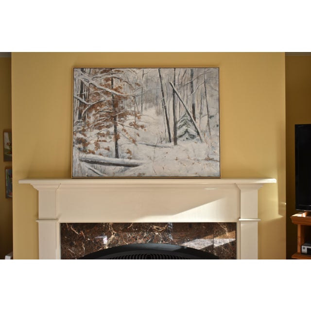 Stephen Remick Snowy Hillside Contemporary Painting For Sale - Image 9 of 13