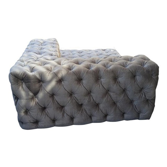 """Textile Custom to Order """"Modern Tufting"""" Collection Daybed For Sale - Image 7 of 8"""