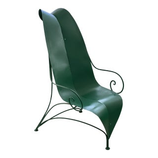 "Poltronova Mirabili ""Foglia"" Metal Chair - Sottsass, Memphis, Mendini For Sale"