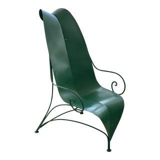 "Poltronova Mirabili ""Foglia"" Metal Chair - Sottsass, Memphis, Mendini For Sale"