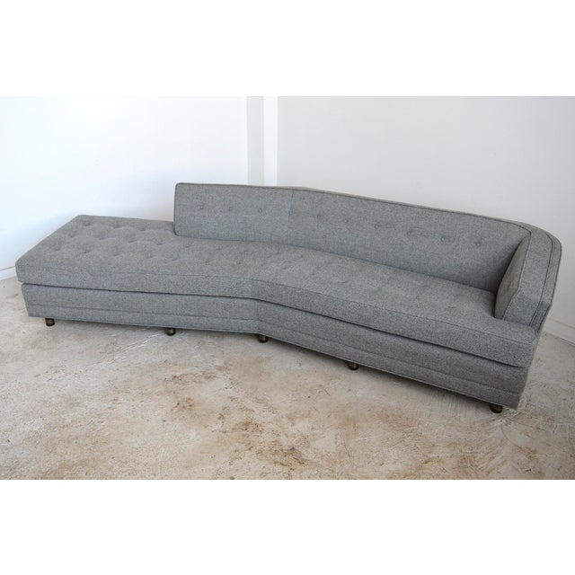 Harvey Probber Harvery Probber Large Angled One-Arm Sofa For Sale - Image 4 of 11