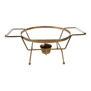 Vintage Brass Handled Casserole Dish Warmer