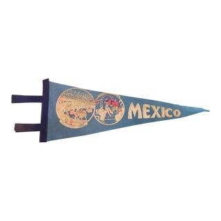 Vintage Mexico Felt Flag Pennant