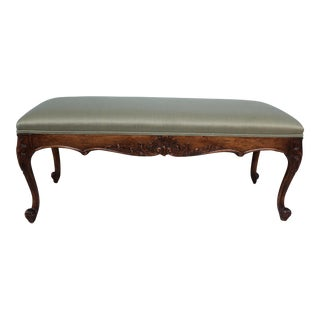 Vintage French Louis XV Style Bench For Sale