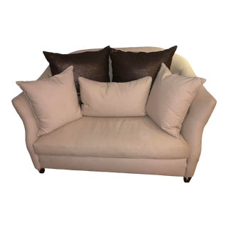 Cisco Home Beige Loveseat With Pillows For Sale