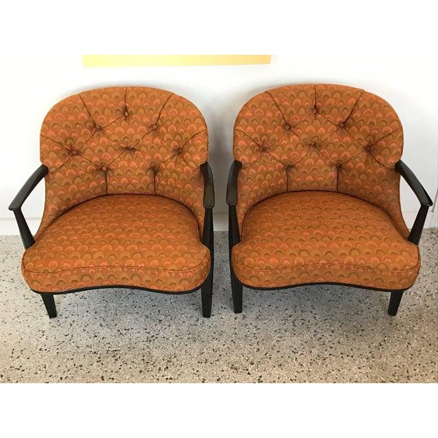 Pair of Classic Dunbar Janus Armchairs in Larsen Fabric For Sale - Image 10 of 10