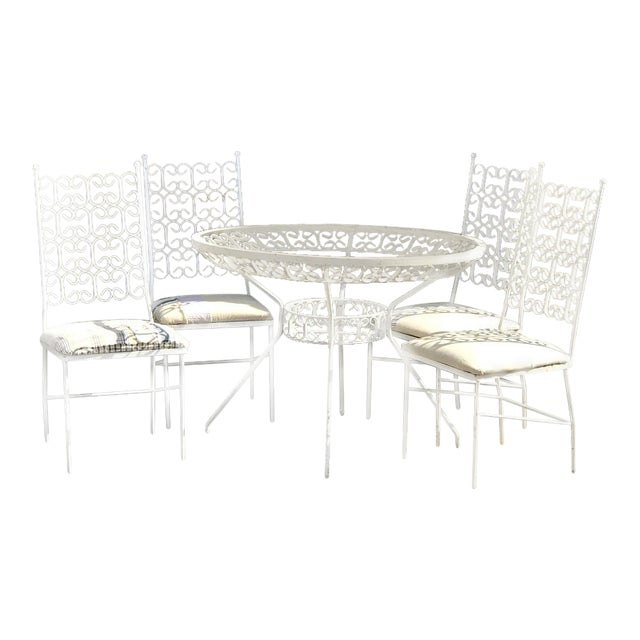 1960s Mid Century Modern Dining /Patio Set - 5 Pieces For Sale