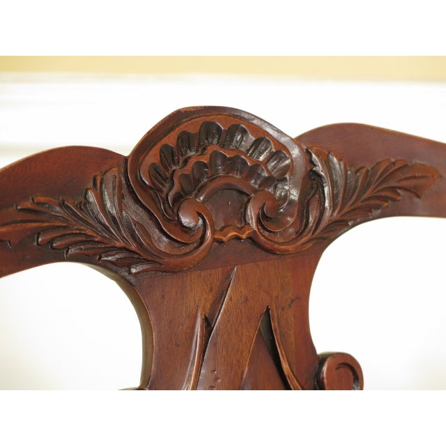 Chippendale Baker Chippendale Mahogany Dining Room Chairs - Set of 10 For Sale - Image 3 of 13