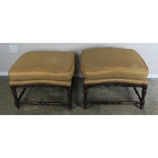 Pair of French Country Style Ottomans C. 1900's Preview