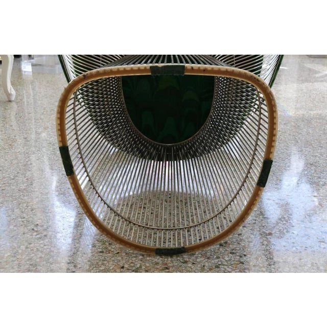 1970s Warren Platner for Knoll Marble Table With Chairs in Jack Lenor Larsen Fabric For Sale - Image 10 of 10