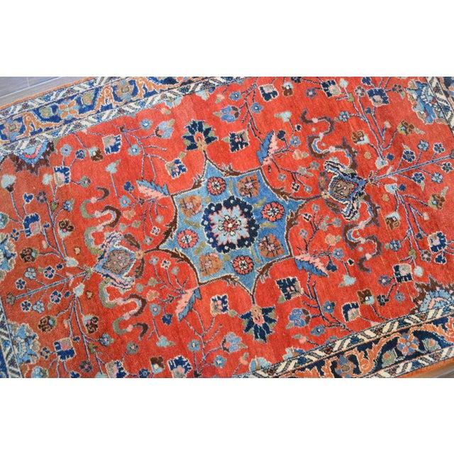 "Boho Chic Vintage Persian Lilihan Rug - 4' x 5'11"" For Sale - Image 3 of 11"