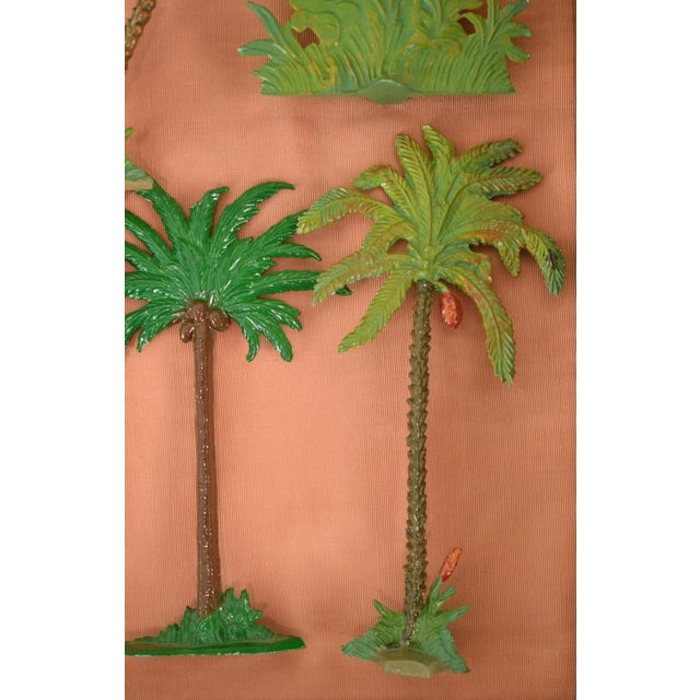 Lead Vintage Mid-Century Hand-Painted Palm Trees - Set of 10 For Sale - Image 7 of 11