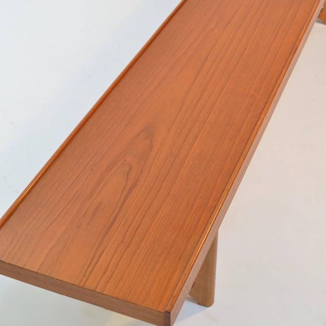 Bruksbo Long Teak Bench 'Krobo' by Torbjörn Afdal for Bruksbo For Sale - Image 4 of 9