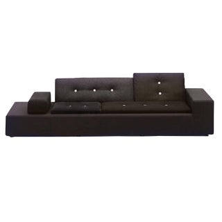 Vitra Polder Sofa in Grey Mocha by Hella Jongerius