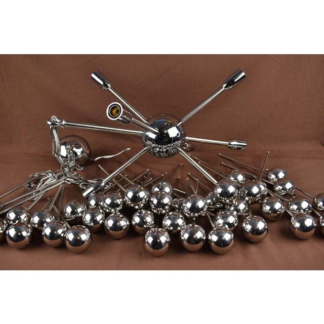 1960s Vintage Sputnik Chrome Chandelier For Sale In Portland, ME - Image 6 of 7