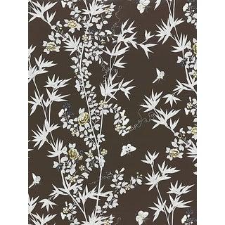 Scalamandre Jardin De Chine, Espresso Wallpaper For Sale
