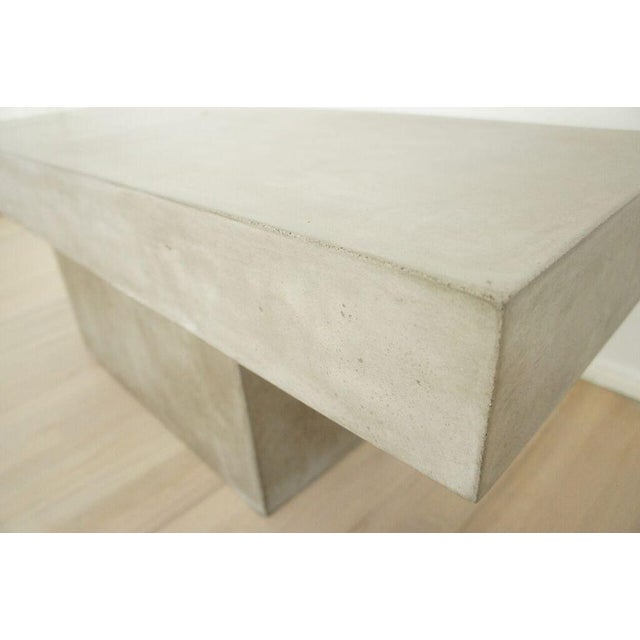 CB2 Concrete Resin Fuze Bench - Image 6 of 6
