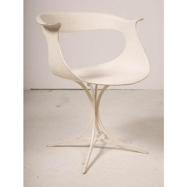 "Mid-Century Modern Erwine & Estelle Laverne Mod ""Lotus"" Armchair For Sale - Image 3 of 7"
