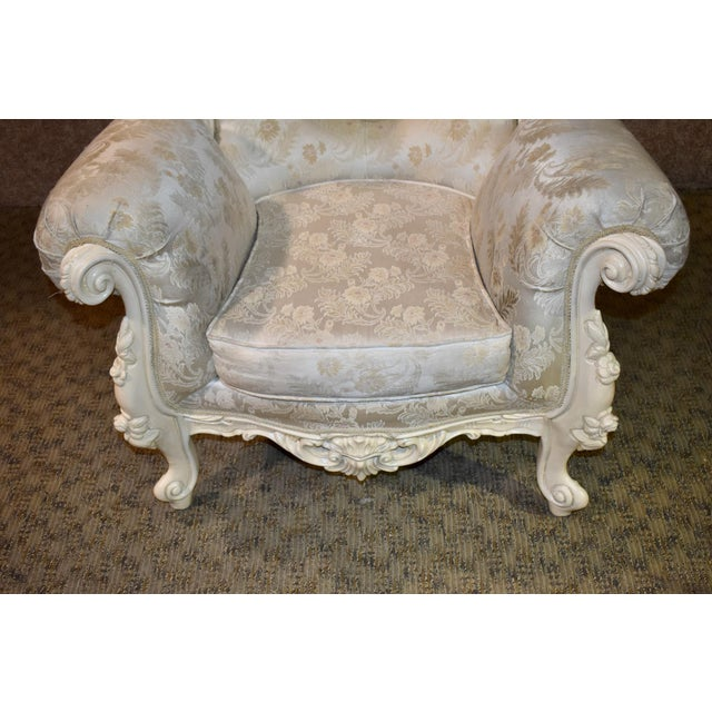 1980s Vintage Ornate Renaissance Style Sitting Chair For Sale - Image 10 of 13