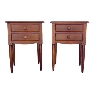 1980s Ethan Allen Solid Maple Nightstands - a Pair For Sale