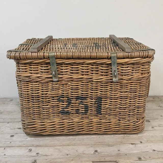 Rustic Antique Wicker Basket For Sale - Image 3 of 13