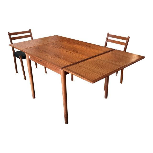 Am Mobler Danish Teak Expandable Table - Image 1 of 10