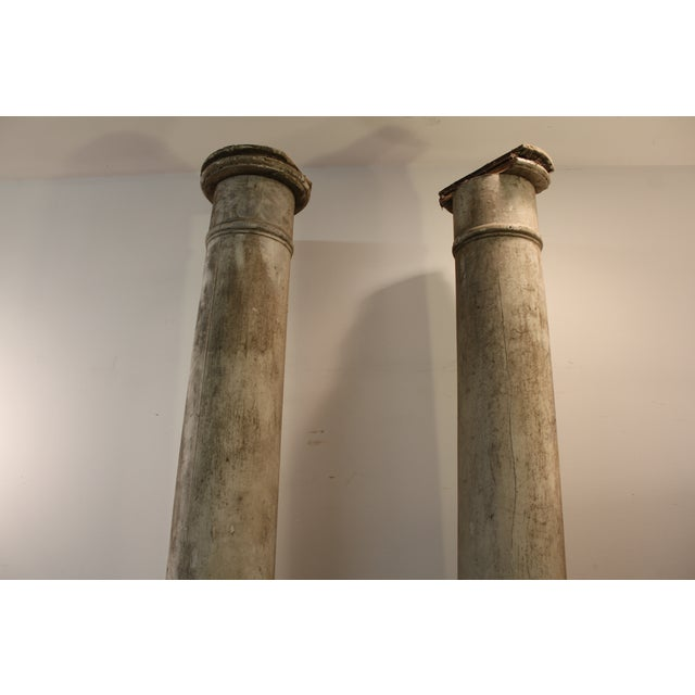 1930s Salvaged Architectural Columns - A Pair - Image 6 of 11