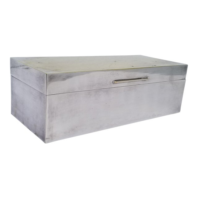 Vintage Mid-Century Silver Plate Decorative Box For Sale