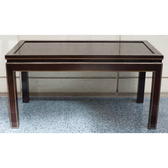 Brown Contemporary Black Lacquer Coffee or Cocktail Table For Sale - Image 8 of 10