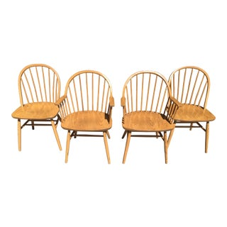Windsor Library Conference Chairs - Set of 4 For Sale