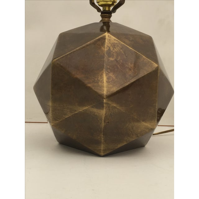 Bronzed Geometrical Lamp by Westwood - Image 3 of 9