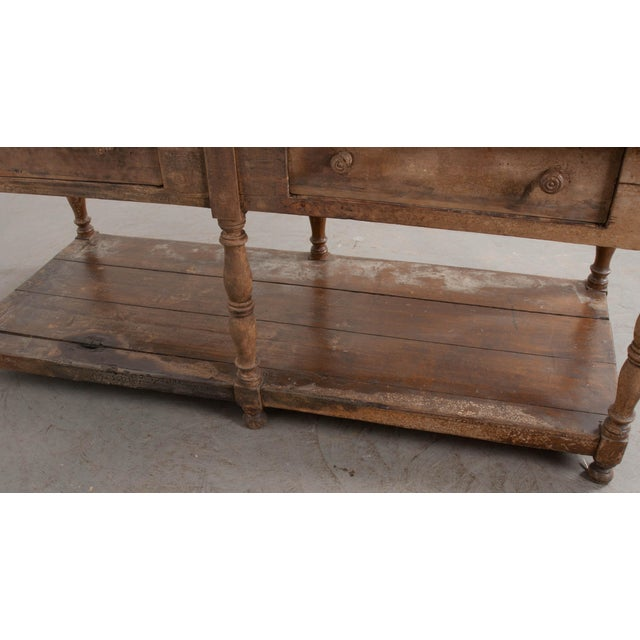 French 19th Century Painted Drapery Table For Sale - Image 12 of 13