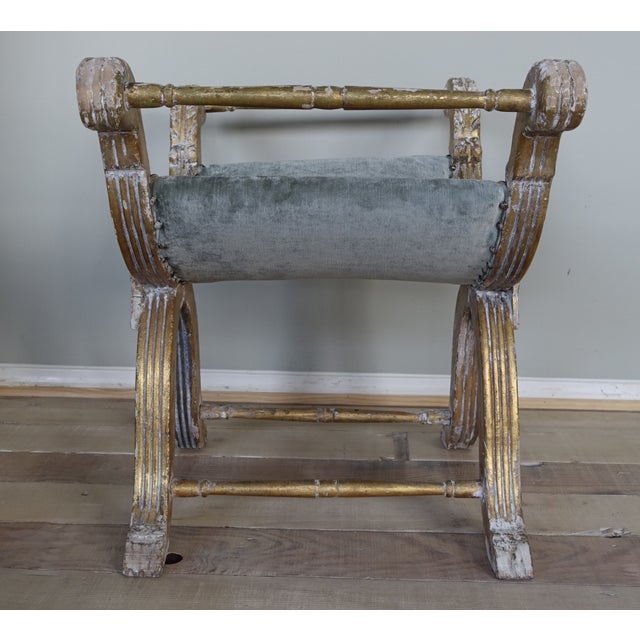 Italian Carved Gilt Wood Bench - Image 4 of 6