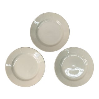 20th Century French Creamware Plates - Set of 3 For Sale