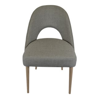 Curved Back Modern Occasional Chair For Sale