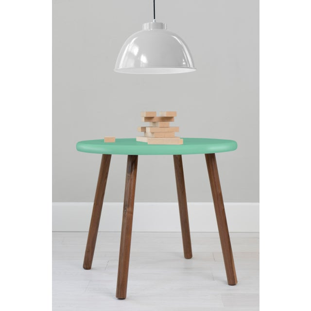 """Peewee Round 30"""" Large Walnut Kids Table. Our Peewee table has a sleek modern look and provides plenty play space with a..."""