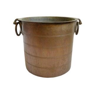 Antique Copper & Brass Pot For Sale
